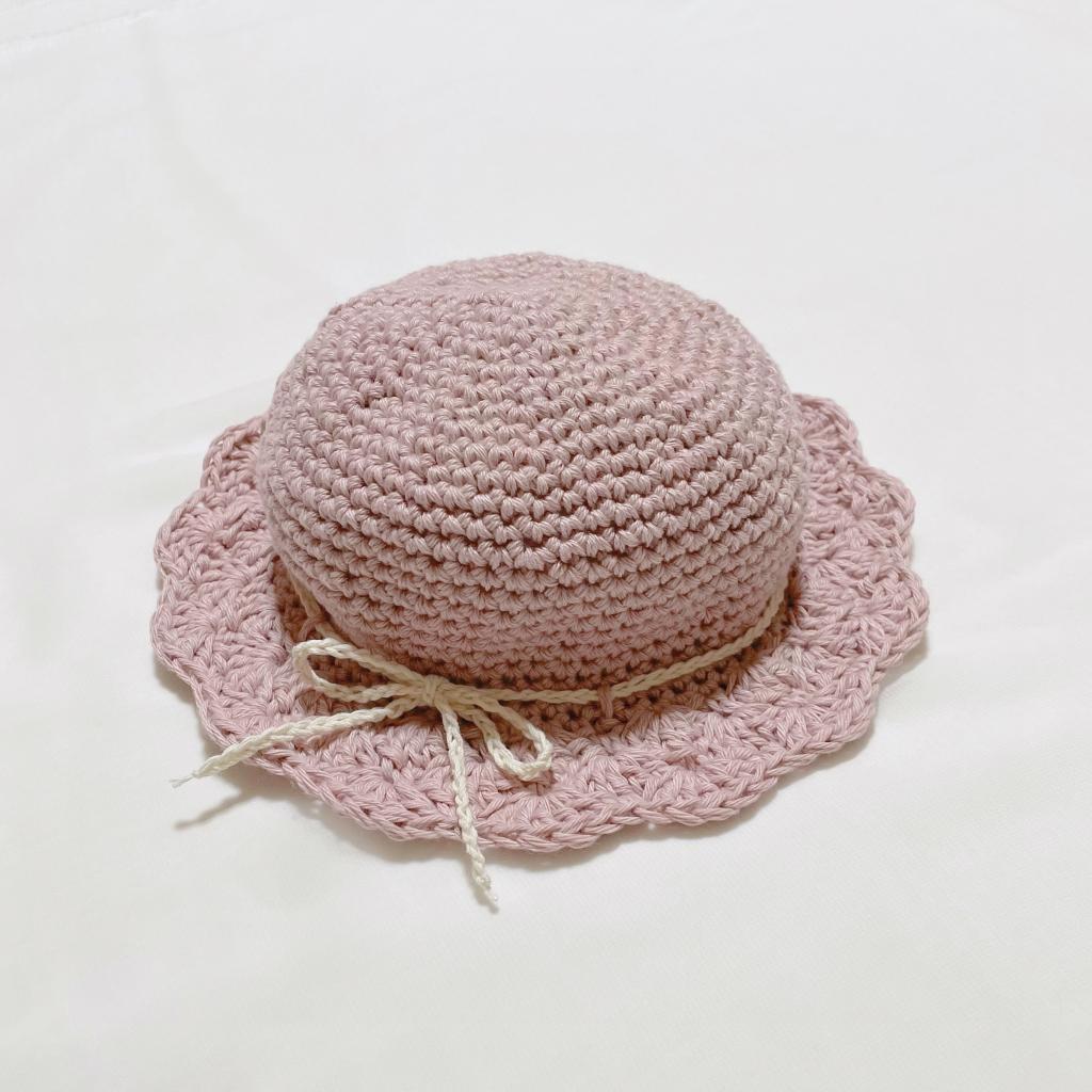 かぎ針編み子供の春夏帽子