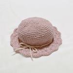 かぎ針編み春夏帽子